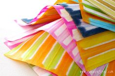 Japanese paper of the colorful striped pattern-01