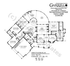 2587 sq ft Lakeview Cottage House Plan 05357, 1st Floor Plan ...
