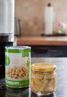 Two Ingredient Hummus @ DessertForTwo.com