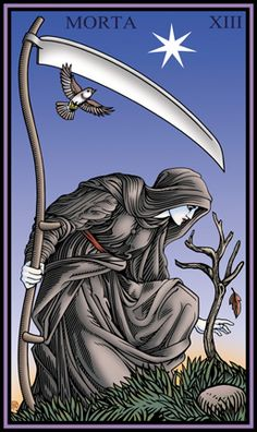 Robert M Place ~ The Tarot of the Sevenfold Mystery: Death (so pretty!)