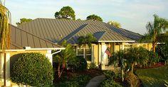 Residential metal roof.