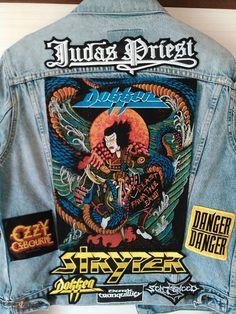 Combat Jacket, Battle Jacket, Metal Fashion, Fashion Art, Ozzy Osbourne, Iron Maiden, Shopping Websites, Rock N Roll, Heavy Metal