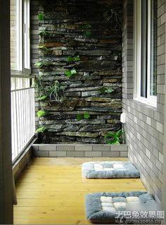 Leisure in small balcony design renderings
