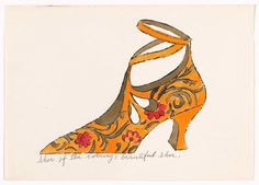 Shoe of the Evening....by Andy Warhol (American 1928-1987)