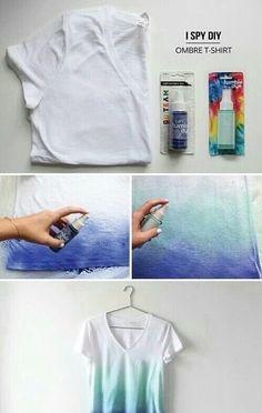 Imagem de diy, blue, and t-shirt