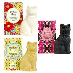 Find amazing Greenwich Bay Trading Company Kitty Cat Luxurious Shea Butter Sculptured Soap Gift Set (Set of cat gifts for your cat lover. Great for any occasion! Bad Cats, Bad Kitty, Baby Girl Blankets, Baby Gift Sets, Pretty Cats, Pretty Kitty, Teething Toys, Plush Animals, Baby Prints