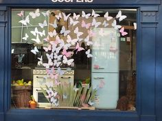 Butterfly Window Display - Inspiration for making one of my students brave.