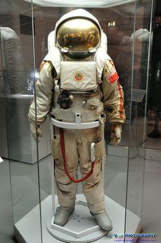 Russian cosmonaut suit.