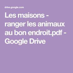 Google Drive, Coding, Ranger, Ps, Montessori, School, Visual Perception Activities, Logic Games, Animaux
