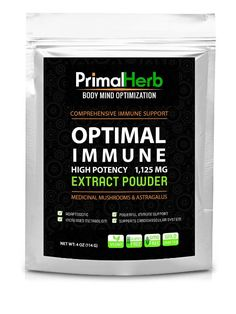 "Optimal Immune: Astragalus & Medicinal Mushrooms Pure ""Extract"" Powder - High Potency - Powerful Antioxidant, Immune Support, Immune Booster and Energy Support –Astragalus, Maitake Mushroom, Reishi Mushroom and Chaga Mushroom-Highly Absorbable-4oz(114 grams)-100 servings-100% MONEY BACK GUARANTEE! - ChagaHerb.com"