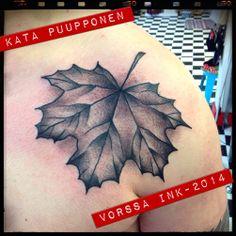 https://www.facebook.com/VorssaInk, http://tattoosbykata.blogspot.fi, #tattoo #tatuointi #katapuupponen #vorssaink #forssa #finland #traditionaltattoo #suomi #oldschool #mapleleaf