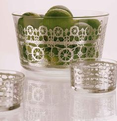LACE! A collection of beautiful glass bowls, designed by Paola Navone for Egizia.