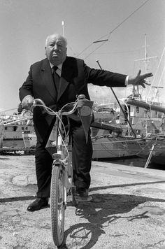 Hitchcock on a bike