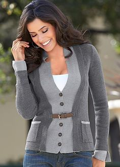 Layered buckle cardigan- I have never seen anything like it, it so pretty and I would rock it like it was made for me.