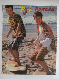 PJ and Duncan surfing on the sea shore LOLOLOLOLOLOLOL Ant & Dec got their first presenting job in 1994, while they were still releasing music under the alias of PJ & Duncan.