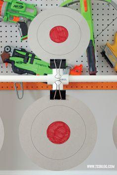 DIY Nerf Spinning Target - seven thirty three