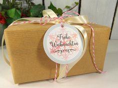 Geschenkverpackungen - Weihnachtsanhänger Anhänger Geschenk Schneeflocken - ein Designerstück von DesignArbyte Grafik Design, Christmas Presents, Paper Shopping Bag, Gift Tags, Container, Gift Wrapping, Gifts, Decor, Paper