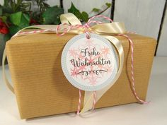 Geschenkverpackungen - Weihnachtsanhänger Anhänger Geschenk Schneeflocken - ein Designerstück von DesignArbyte bei DaWanda