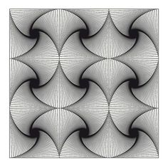 op art nine squares twist 2 - Optical Illusions Zentangle Drawings, Zentangle Patterns, Art Drawings, Doodle Patterns, Zentangles, Grafik Art, Arte Linear, Illusion Art, 3d Prints