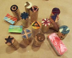 Make some art with your leftover wine corks! Check out these cool, crafty wine cork stamps.