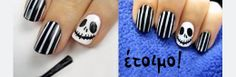 Αποκριάτικο Manicure: Jack Skellington / Halloween manicure: Jack Skellington