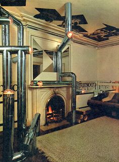 Hugh Hardy (Hardy, Holzman, Pfeiffer), Apartment of Hugh Hardy with Sculpture of Stove Pipes, New York, New York