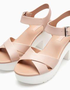 High heel track sole sandal