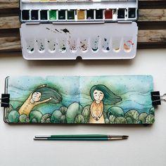 """ #samoshkina_art #illustration #illustrations #dailyart #art #artist #art_we_inspire #art_spotlight #art_public #inspire #instaart #wearevsco #vscoart…"""