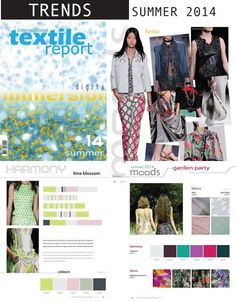 FASHION VIGNETTE: TREND REPORT // INTERNATIONAL TEXTILE REPORT . SUMMER 2014
