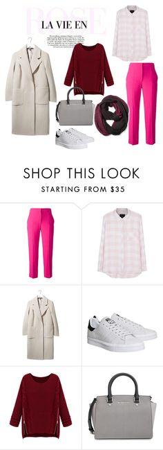 """Fall/Winter outfit - La vie en rose"" by agneskaco on Polyvore featuring mode, Alexander McQueen, Rails, Boutique, adidas, MICHAEL Michael Kors, Pistil, outfit, CasualChic et pinktrousers"