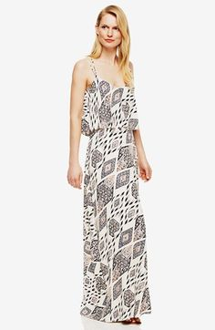 Vince Camuto 'Marrakesh Tapestry' Popover Maxi Dress | Nordstrom
