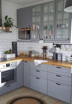 Grey Kitchen Ideas Do You Love Grey Kitchen Design? If you a., Grey Kitchen Ideas Do You Love Grey Kitchen Design? If you are looking to give your kitchen a facelift by changing some colors and. Country Kitchen, New Kitchen, Kitchen Decor, Kitchen Ideas, Kitchen Planning, Kitchen Paint, Grey Kitchen Designs, Interior Design Kitchen, Grey Kitchen Cabinets