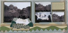 Mount Rushmore Wedding Scrapbook Pages, Travel Scrapbook Pages, Vacation Scrapbook, Scrapbook Page Layouts, My Scrapbook, Scrapbooking Ideas, South Dakota Vacation, My Road Trip, Creative Memories