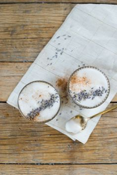 Lavender Latte Recipe with Honey and Oat Milk