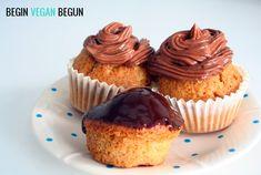 Cupcakes de chocolate. Receta #vegana.