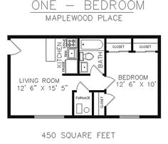 450 sq ft apartment - Google Search