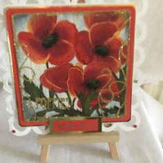 Hand Painted Poppies Greetings Card, General Greetings, All Occasions,Floral Valentine Heart, I Am Happy, Beautiful Hands, Swirls, Poppies, Greeting Cards, Paper Crafts, Pottery, Hand Painted