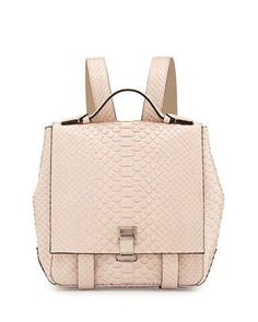 PS+Small+Python+Backpack,+Beige+by+Proenza+Schouler+at+Neiman+Marcus.
