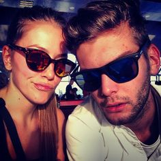 A Handsome Couple is enjoying their trip in Havana with the Fashionable SPEKTRE SUNGLASSES. Find them at WWW.FINAEST.COM | #fashion #shades #finaest #spektre #spektresunglasses #lunettes #sunnies