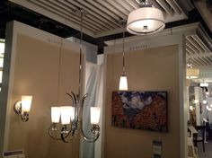 Aldrich - note semi flush has white shade. Can work with the Downtown series