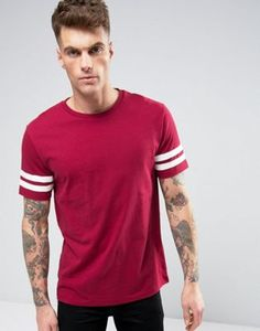 Brooklyn Supply Co College Stripe Sleeve T-Shirt