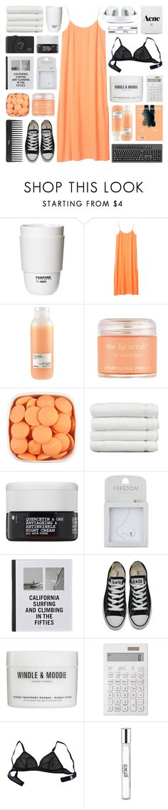 """""""california"""" by teardropss ❤ liked on Polyvore featuring ROOM COPENHAGEN, Monki, Davines, Sara Happ, Linum Home Textiles, Korres, Topshop, Patagonia, Sephora Collection and Converse"""