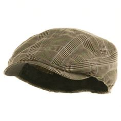 5541220fc6b Buy Men s Plaid Ivy Newsboy Cap Hat - Brown - and Many Other Latest  Designer Hats   Scarves
