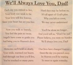 missing dad poems from daughter. Love you dad nd miss you dearly Dad Poems From Daughter, Funeral Poems For Dad, Funeral Quotes, Memorial Poems For Dad, Funny Funeral Poems, Funeral Speech, Funeral Music, Memorial Quotes, Funeral Ideas