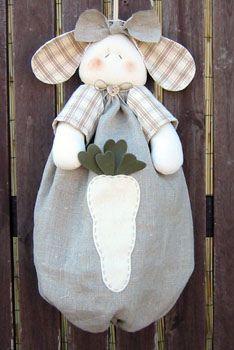 puxa saco coelho by Artesanato - Dicas e Moldes, via Flickr
