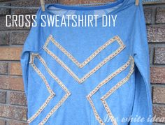 CROSS SWEATSHIRT DIY