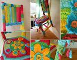 Silla decorada a crochet 2