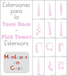 Imprimible extensiones Torre Rosa - Printable Pink Tower extensions