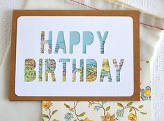 Cards for Travelers  Custom Happy Birthday Card  by typeshyshop