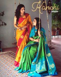 Here Are Our Favorite Brands to Shop Silk Sarees in Sensational Colors Indian Silk Sarees, Ethnic Sarees, Pure Silk Sarees, Cotton Saree, Traditional Sarees, Traditional Outfits, Bridesmaid Saree, Simple Sarees, Stylish Sarees
